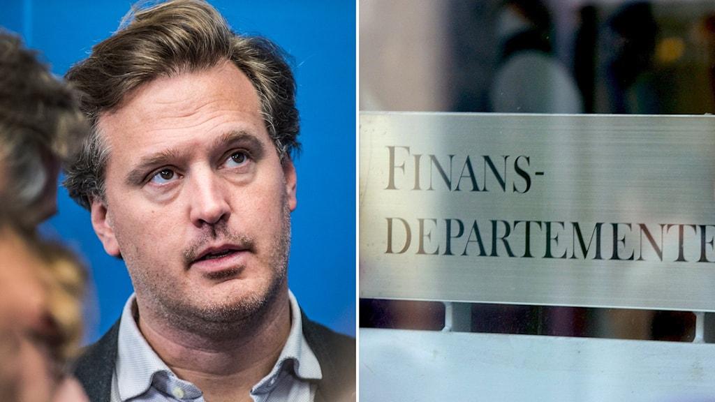 Max Elger, statssekreterare hos finansminister Magdalena Andersson. Foto: Lars Pehrson/SvD/TT, Janerik Henriksson/TT