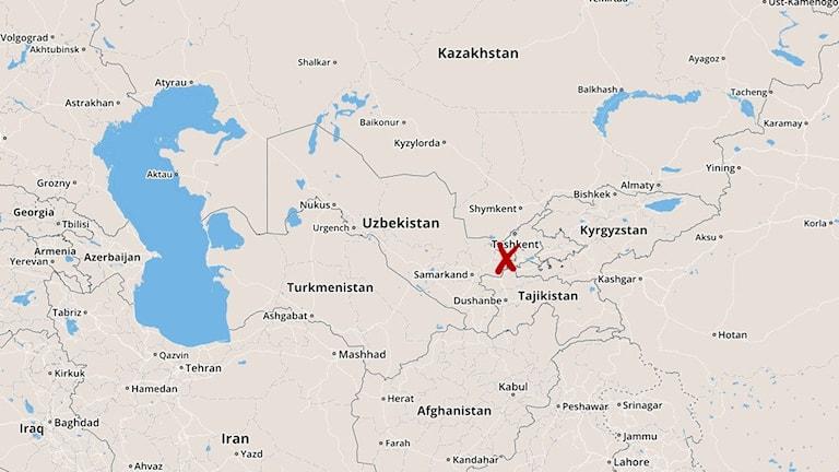 Tadzjikistan, karta
