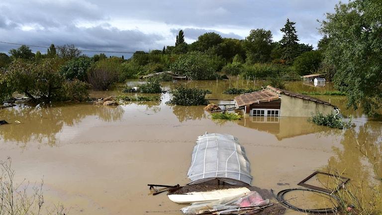 Översvämningar i södra Frankrike.