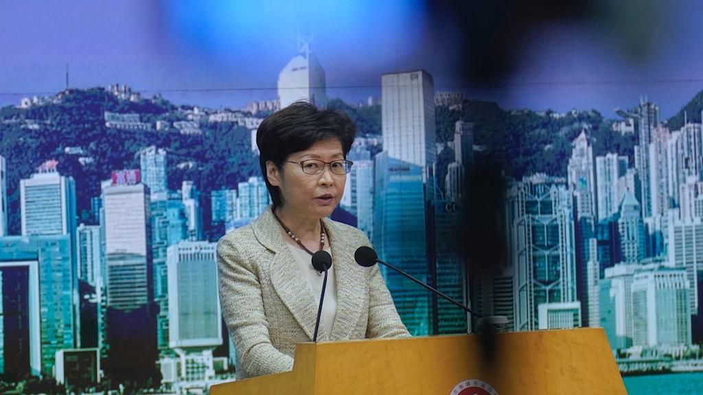 Chefsminister Carrie Lam.