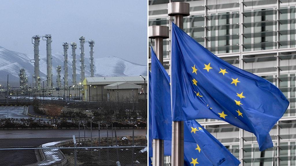 EU och Irans urananriktning.