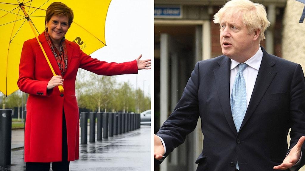Nicola Sturgeon och Boris Johnson