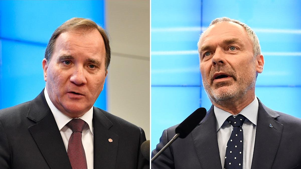 Jan Björklund och Stefan Löfven