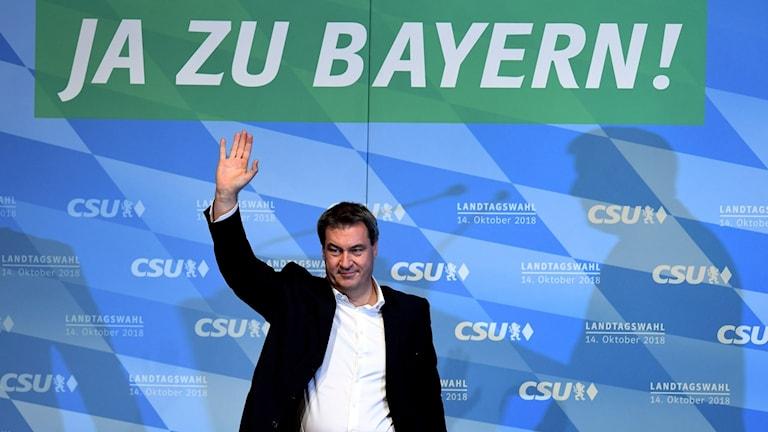 Markus Soeder ledare för CSU i Bayern i valmöte