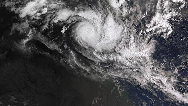 Cyklonen Trevor på väg mot norra Australien.