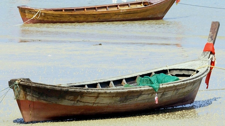 En fiskebåt i Thailand.