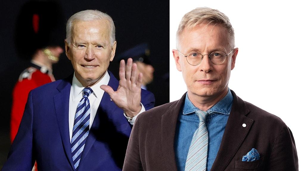 USA:s president Joe Biden och Ekots Daniel Alling