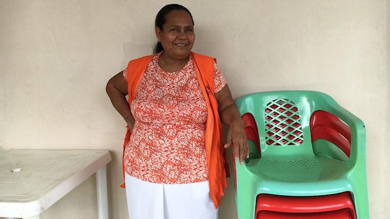 Porträtt på Maria Zabala  i Colombia.