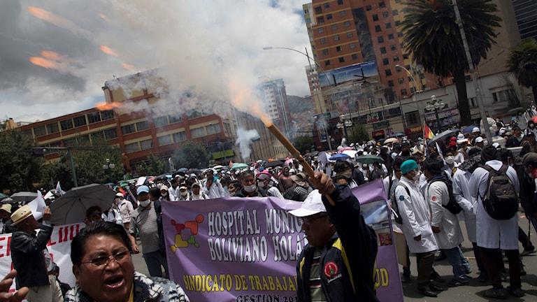 Läkare protesterar mot ny lag i Bolivia