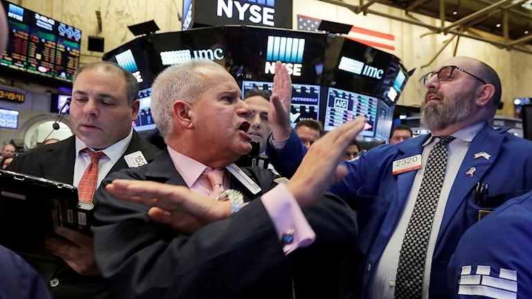 Personer på New York-börsen.