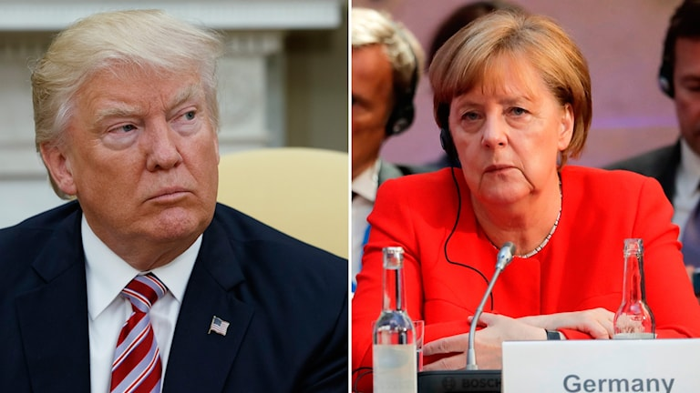 Donald Trump och Angela Merkel