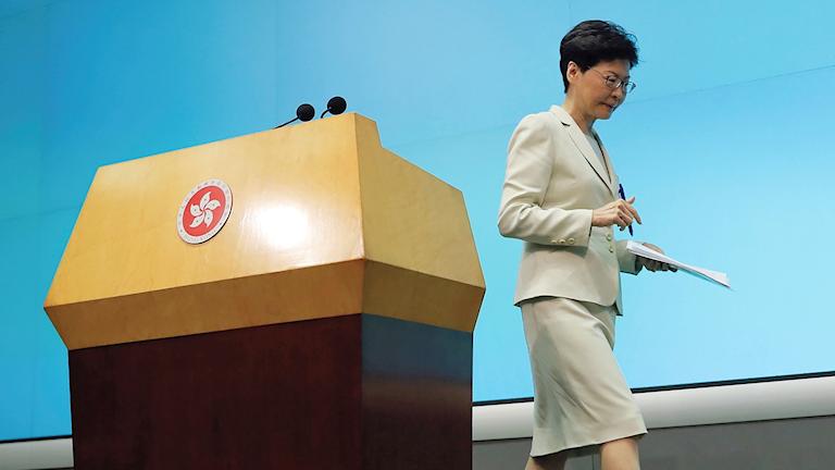 Carrie Lam, Hongkongs högsta politiska ledare.