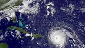 En satellitbild över orkanen Irma från den 6 september.