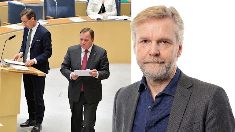 Ulf Kristersson (M), Stefan Löfven (S) och Tomas Ramberg.