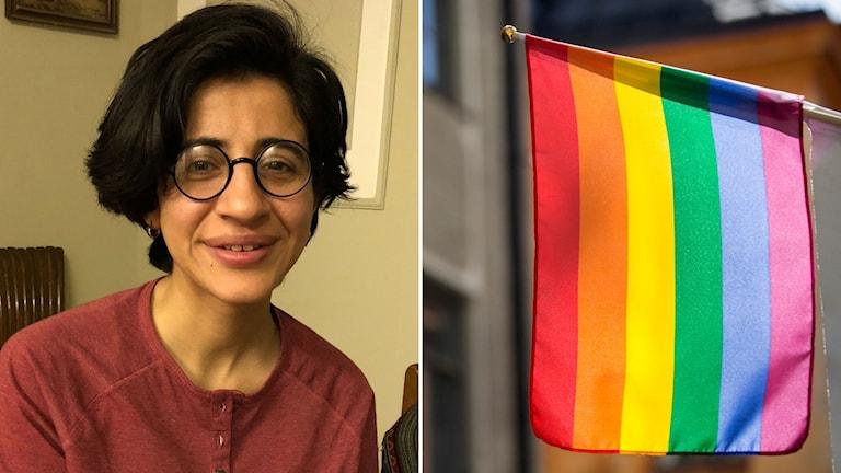 Sarah Hegazi 28 år har flytt från Egypten efter att ha suttit i fängelse i 3 mån för att ha viftat med en regnbågsflagga.