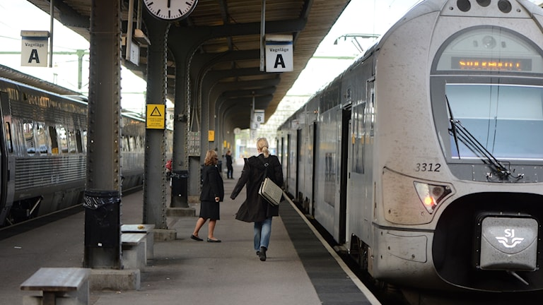 Stopp i tågtrafiken till och från Stockholm.