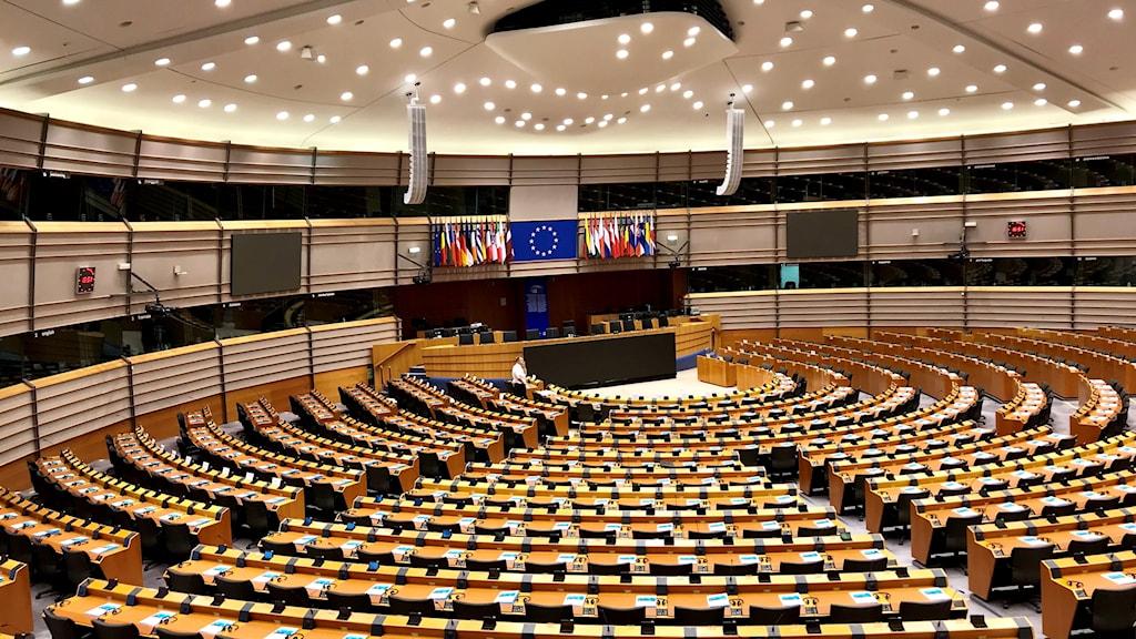 Plenisalen i EU-parlamentet.
