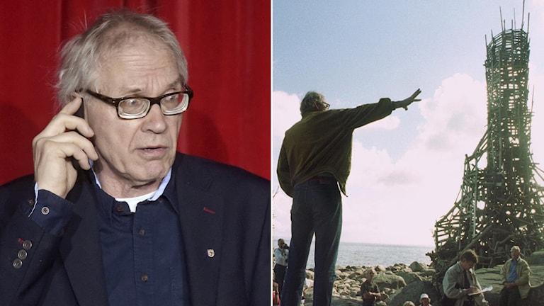 Lars Vilks och konstverket Nimis.