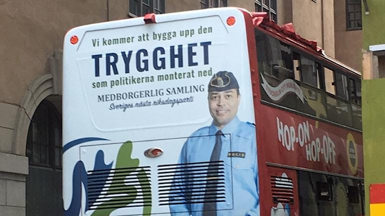 Reklamaffisch för Medborgerlig Samling.