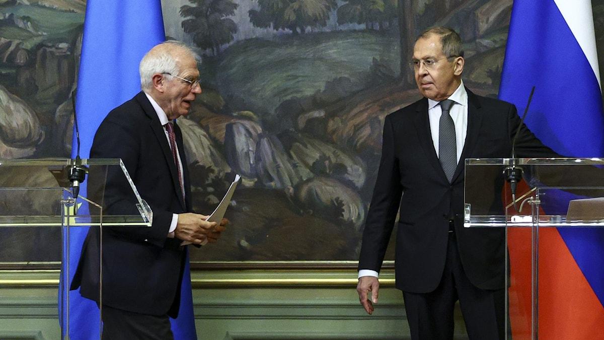 josep Borrell och sergej lavrov