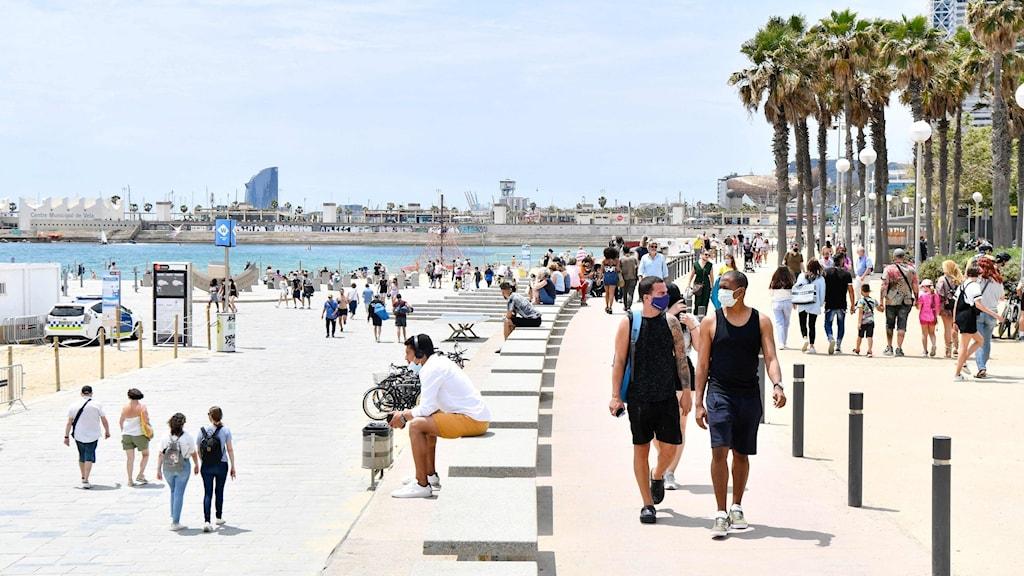 Spanien öppnar för vaccinerade turister