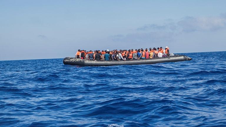migranter, flyktingbåt