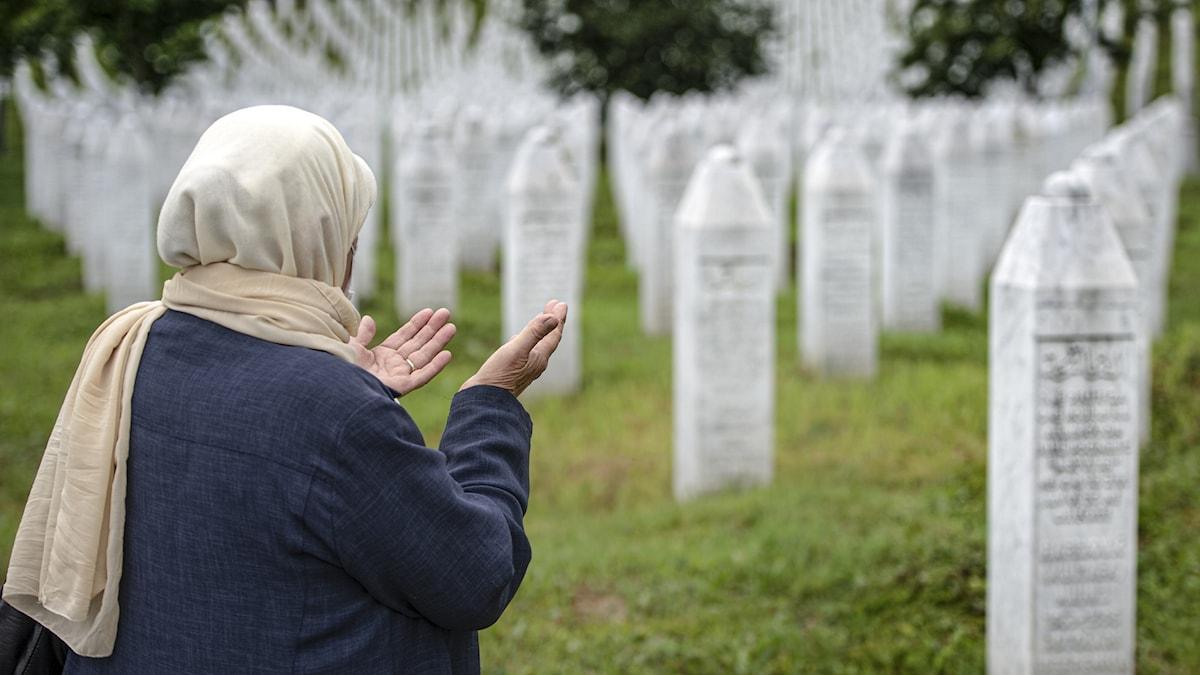 Minnescentret i staden Potocari utanför Srebrenica.