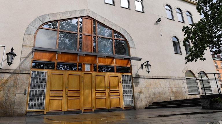 Stockholms moské vid Björns trädgård nära Medborgarplatsen på Södermalm i Stockholm.