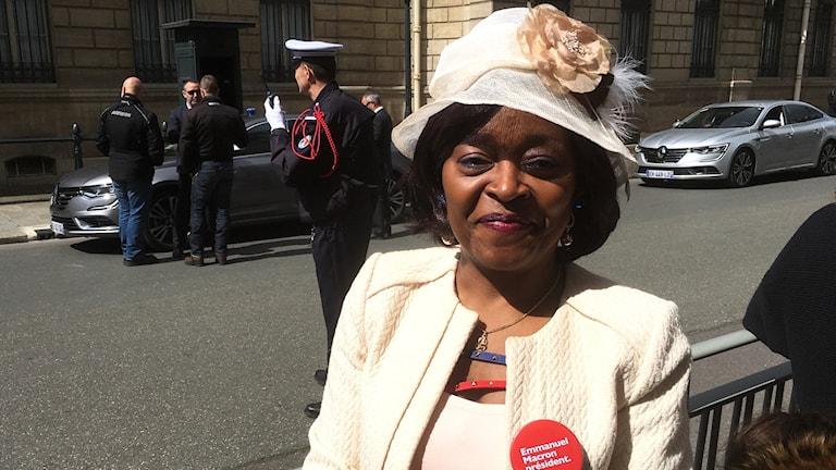 Anhängare till nye presidenten i Frankrike, Brigitte Rotard.