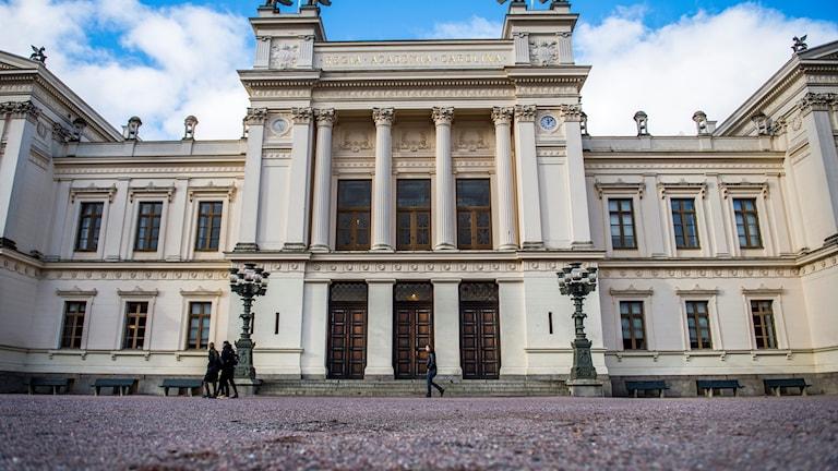Lunds universitet, byggnaden framifrån, Foto: Emil Langvad/TT