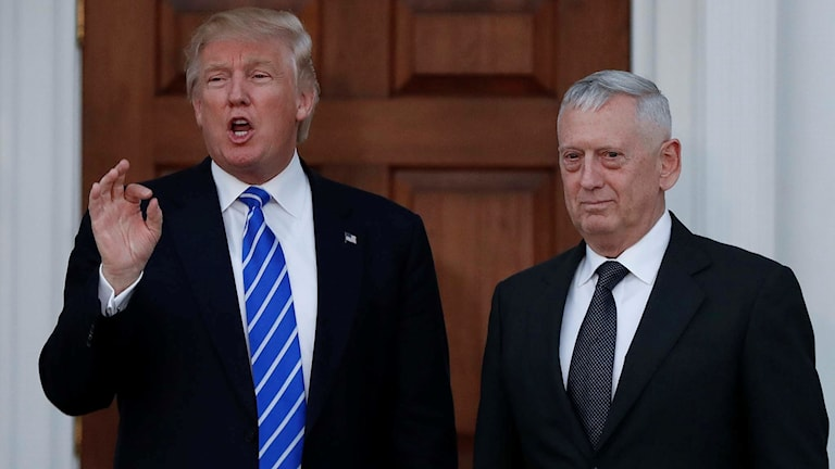 Donald Trump och pensionerade generalen James Mattis.