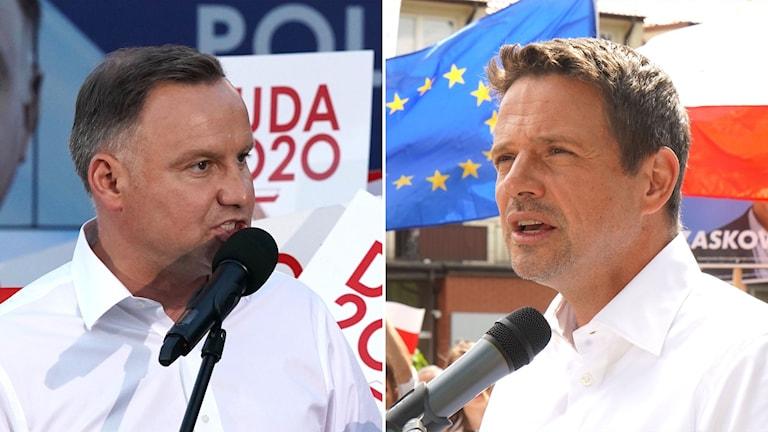 Andrzej Duda och Rafal Trzaskowski