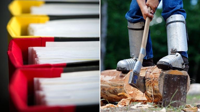 Handlar om enklare administrationsuppgifter och fysiskt arbete i naturen.