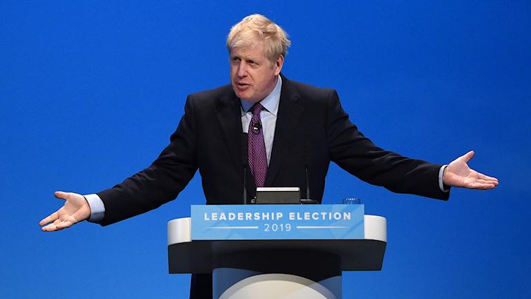 Boris Johnson i talarstol