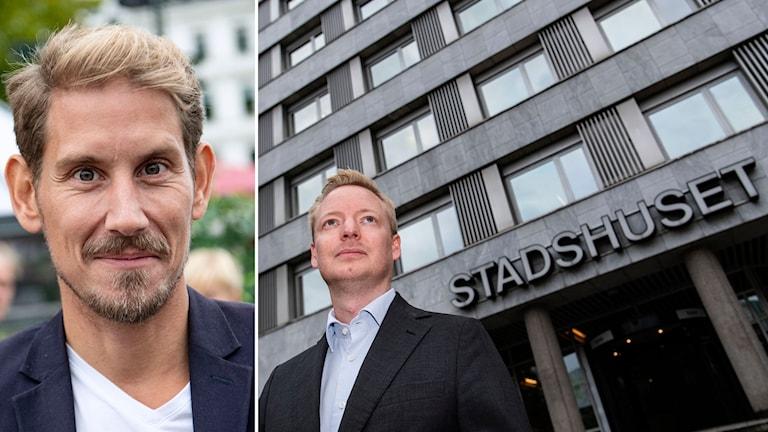 Niels Paarup-Petersen, ordförande (C) och Torbjörn Tegnhammar (M) i Malmö
