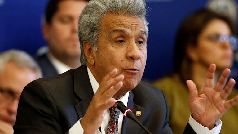 Ecuadors president Lenin Moreno