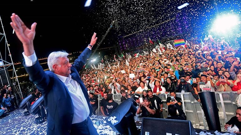 Andrés Manuel López Obrador vinnare i Mexikos presidentval.