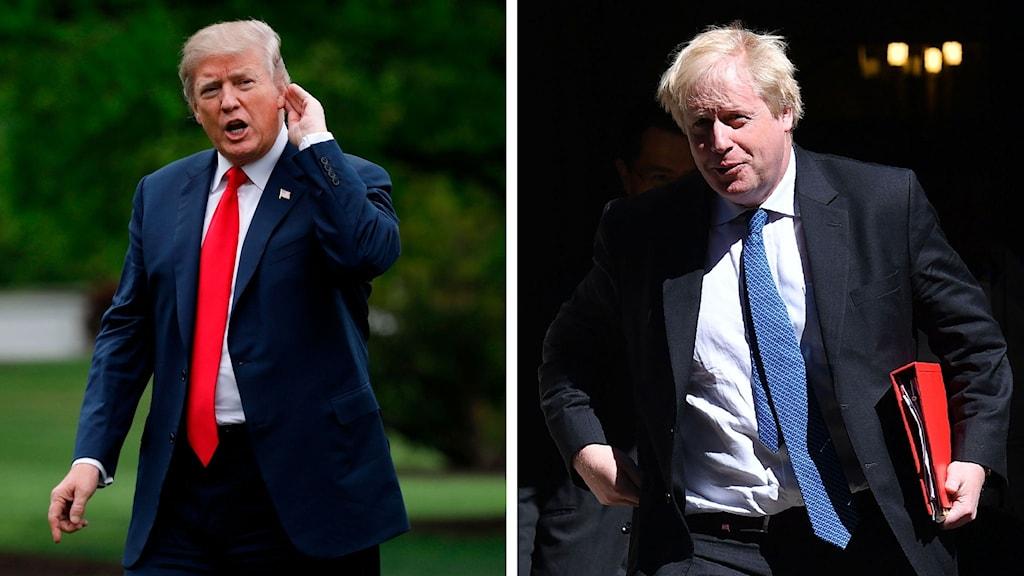 Donald Trump och Boris Johnson