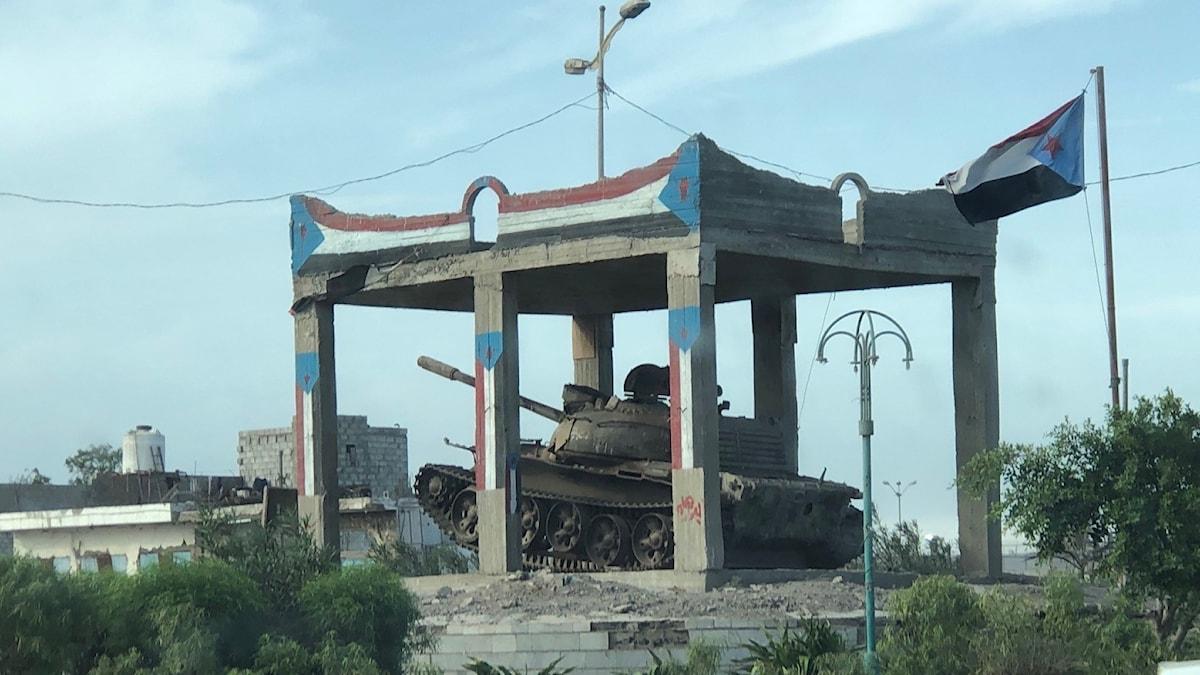 Stridsvagn i Aden
