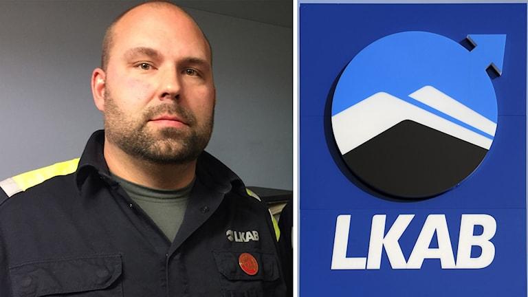Jonas Stålnacke, huvudskyddsombud på LKAB i Svappavaara.