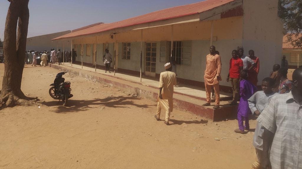 Skolan där barnen kidnappats från.