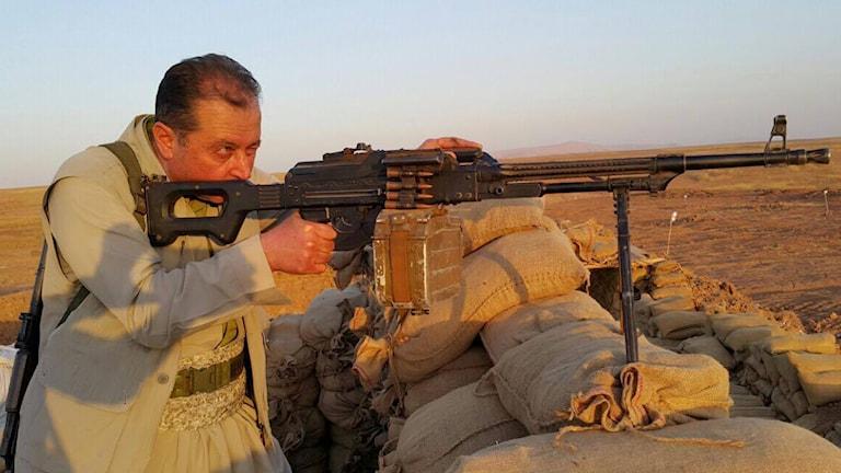 Peshmerga soldat Irak.