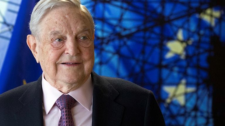 Georg Soros, grundare och ordförande i Open Society Foundation på EU:s högkvarter i Bryssel i April 2017.