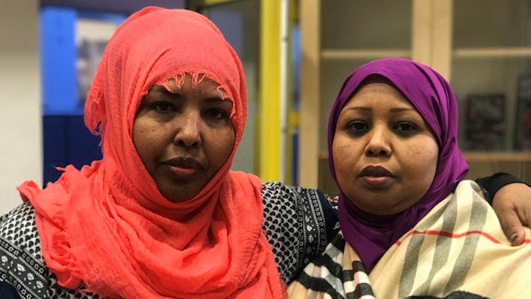 Nasra Ismail och Faduma Igal är båda mammor som bor i Rinkeby.