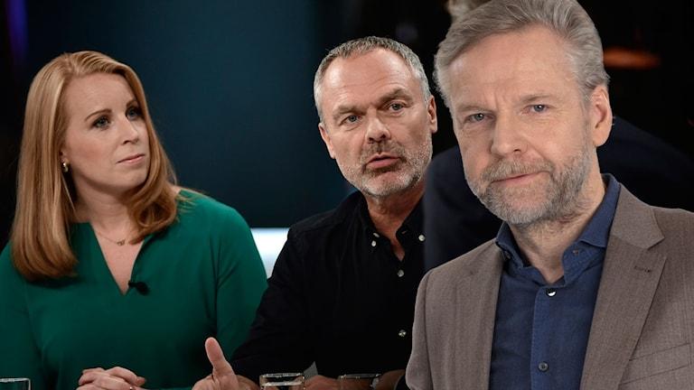 Annie Lööf, Jan Björklund och Tomas Ramberg.