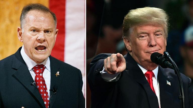 Roy Moore och Donald Trump.