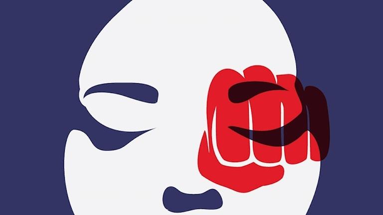 Rysk affisch mot kvinnomisshandel 2013.