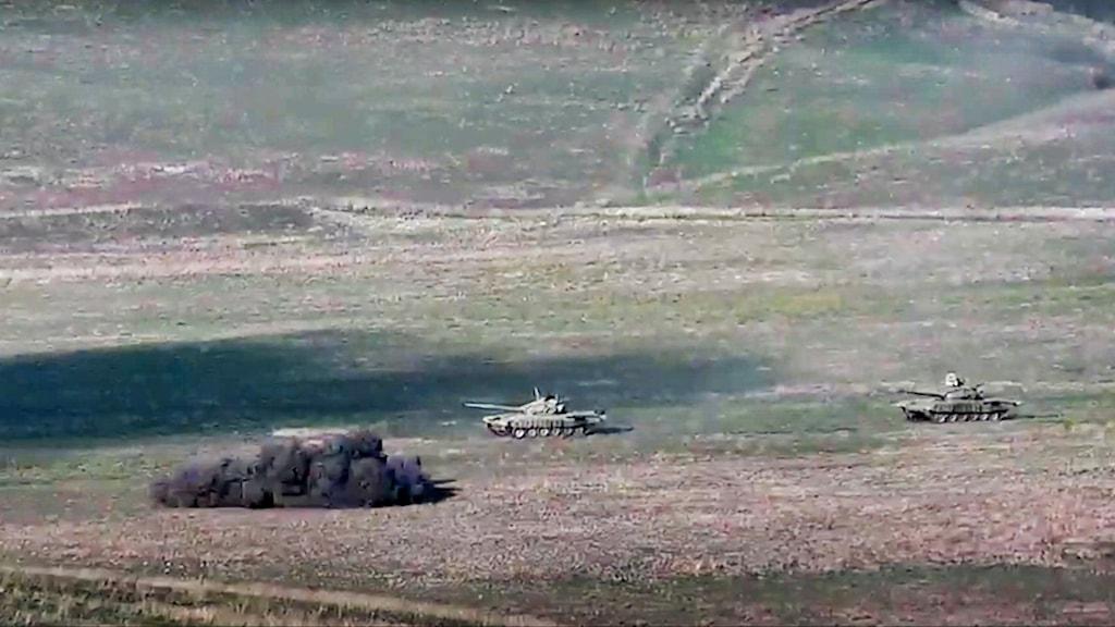 Strider i utbrytarregionen Nagorno-Karabach.