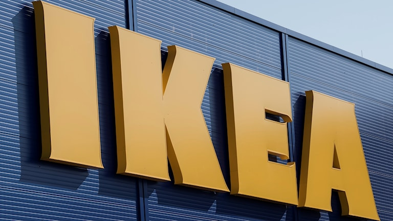 IKEA sign at store.