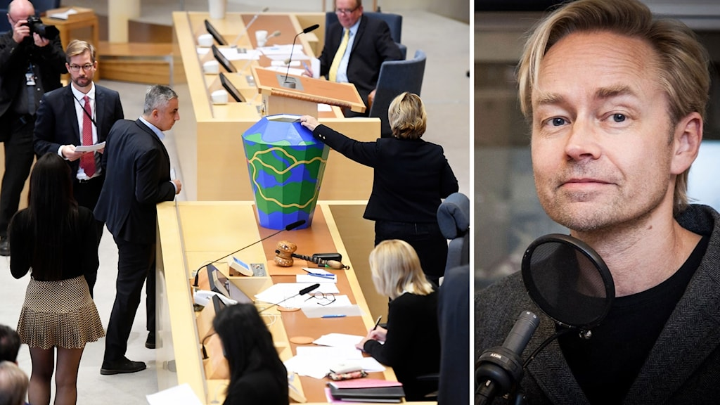 Fredrik Furtenbach och en bild från talmansvalet.